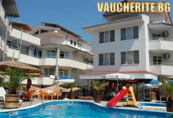 """Лятна почивка в Лозенец ! Нощувка със закуска, закуска и вечеря или пълен пансион с ползване на външен басейн от хотел """"Алпина"""""""