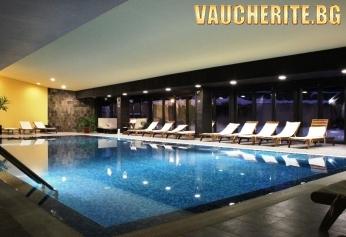 Закуска и вечеря + ползване на басейн и Wellness пакет - парна баня и сауна от хотел Каза Карина