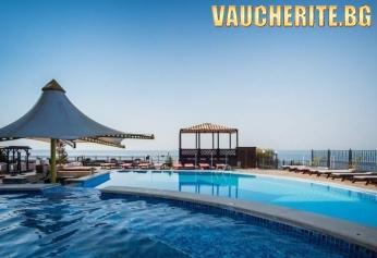 На море в Свети Влас! All inclusive + паркинг  и  басейн с чадъри и шезлонги около него от хотел Цезар Палас