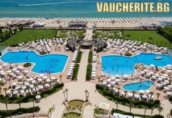 На море в Слънчев бряг! Нощувка със закуска и вечеря + ползване на външен базсейн, чадър и шезлонг от хотел Majestic Beach Resort