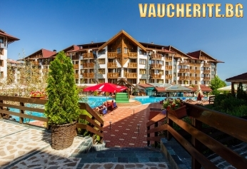 """Нощувка със закуска, обяд и  вечеря + ползване на външен басейн от хотел """"Белведере"""", Банско"""