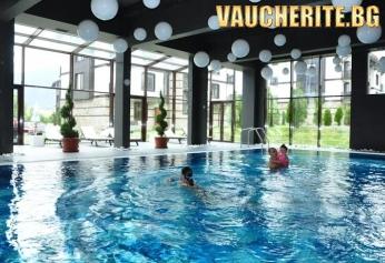 Нощувка на база All Inclusive Light + ползване на басейн с МИНЕРАЛНА ВОДА, сауна, солна сауна и парна баня от Хотел 3 Планини