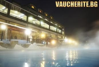 """Нощувка със закуска + ползване на ОТКРИТ минерален басейн, сауна и парна баня от хотел """"Аспа Вила"""" , с. Баня до Банско"""