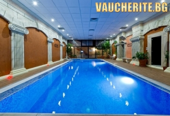 """Нощувка със закуска + ползване на басейн с МИНЕРАЛНА ВОДА, римска баня, солна стая от хотел """"Свети Никола"""", Сандански"""