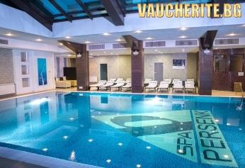 Нощувка със закуска и вечеря + ползване на минерални басейни и СПА център от хотел Персенк 5*, Девин