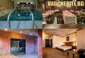 Нощувка със закуска и вечеря + ползване на закрит басейн с МИНЕРАЛНА ВОДА, джакузи и парна баня  от хотел България, Велинград