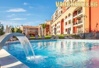 Ultra All Inclusive + БЕЗПЛАТНО настаняване на дете до 11.99 г.,  външен и вътрешен басейн, чадър и 2 шезлонга на плажа и анимация от хотел Феста Виа Понтика, Поморие
