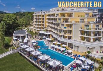 All Inclusive + ползване на басейн, чадър и шезлонг на басейна и на плажа, анимация, фитнес и паркинг от хотел Марина Сандс, Обзор