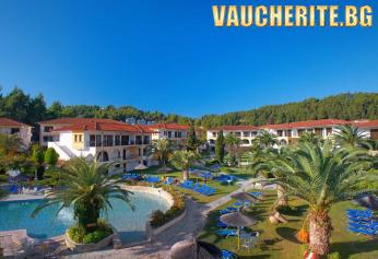 5 нощувки на база All Inclusive + ползване на два басейна, чадъри и шезлонги край тях и паркинг от Chrousso Village Hotel 4*, Халкидики