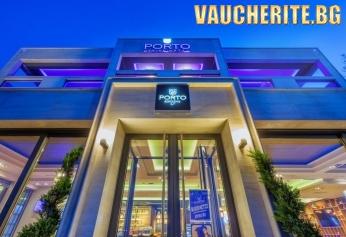 5 нощувки със закуски и вечери + ползване на паркинг, интернет и сейф от хотел Porto Marine Hotel 4*, на 50м. от плажа в Пиерия, Гърция