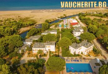 7 нощувки на база ALL INCLUSIVE + ползване на басейн с водни пързалки, чадъри и шезлонги на плажа, интернет, паркинг, детска площадка и анимация от хотел Bomo Kalogria Beach Hotel 4*, Пенелопес