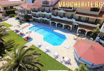 5 нощувки на база All Inclusive + ползване на два открити басейна, шезлонги и чадъри на плажа, детски басейн, интернет и паркинг от хотел Rachoni Beach Hotel 3*+, о-в Тасос