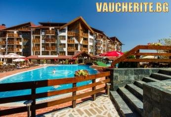 """Лято в Банско! 3 или 5 нощувки със закуски или закуски и вечери + ползване на външен с шезлонги и чадъри, вътрешен басейн и СПА пакет от хотел """"Белведере"""""""