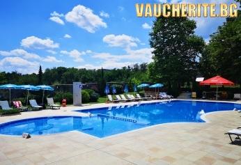 """Лято в Хисаря! 5 или 6 нощувки със закуски + ползване на външен и вътрешен басейн, сауна, парна баня, джакузи, солна стая от хотел """"Сана СПА"""""""