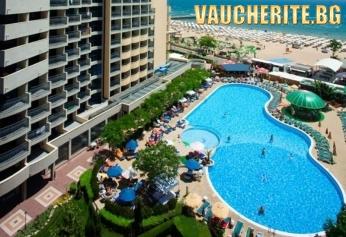 РАННИ ЗАПИСВАНИЯ! Нощувка на база All inclusive PLUS + ползване на басейн, чадър и 2 шезлонга на плажа, анимация, фитнес и интернет от хотел Белвю, Слънчев бряг