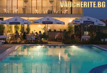 Нощувка със закуска или закуска и вечеря + ползване на басейн от хотел Музите, на 150м. от плажа в Созопол