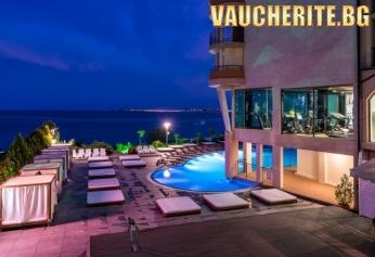 Нощувка със закуска, обяд и вечеря + ползване на външен термален басейн, вътрешен акватоничен басейн и СПА център от Гранд хотел Свети Влас