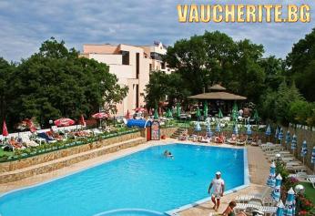 All inclusive + ползване на външен и вътрешен басейн, сауна, джакузи и парна баня, чадър и шезлонг на басейна  от хотел Шипка, Златни Пясъци