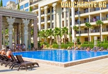 All Inclusive + ползване на външен басейн с шезлонг, детски кът, уелнес пакет и анимация от хотел Аргищ Партез 4*, Златни пясъци