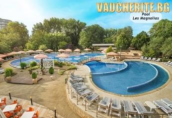 Нощувка на база All Inclusive + ползване на външен басейн с шезлонги и чадъри и безплатен паркинг от хотелски комплекс Магнолиите, Приморско