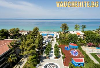 5 нощувки на база ULTRA ALL INCLUSIVE + ползване на открит и закрит басейн, СПА център, чадъри и шезлонги на плажа, детски клуб от хотел Potidea Palace 4*+, Халкидики - Касандра