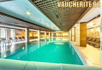 Нощувка със закуска и вечеря + ползване на вътрешен басейн и СПА център от Апартаментен хотел Гранд Рояле, Банско