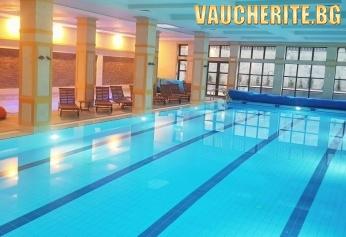Нощувка със закуска + ползване на закрит плувен басейн, детски басейн, СПА център, интернет и паркинг от хотел 7 Pools, Банско