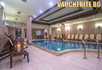 Нощувка със закуска, вечеря и напитки по време на храненията + ползване на вътрешен басейн, сауна и парна баня от хотел Мария-Антоанета Резиденс, Банско