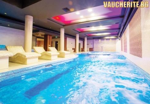 """Нощувка със закуска + ползване на вътрешен акватоничен басейн и СПА център от """"Гранд Хотел Банско"""""""