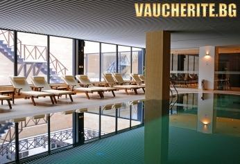 Нощувка със закуска и вечеря + ползване на вътрешен басейн, сауна, парна баня, паркинг и интернет от Апартхотел Аспен, Банско