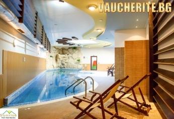 Нощувка със закуска + ползване на отопляем басейн, СПА център, транспорт до ски лифта и интернет от хотел Сънрайз парк и СПА, Банско