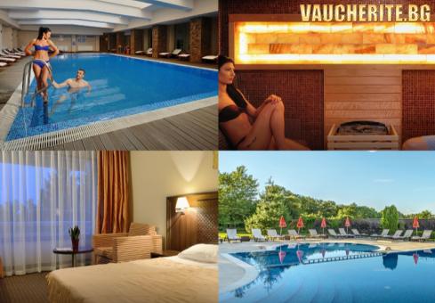 """Нощувка със закуска + ползване на вътрешен минерален басейн, сауна, парна баня, външно джакузи, солна стая и релакс зона от хотел """"Сана СПА"""", Хисаря"""