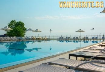 Нощувка със закуска и вечеря + ползване на басейн, чадър и шезлонг на плажа, паркинг, детски клуб и анимация от хотел Dion Palace Resort & Spa 5*, Олимпийска Ривиера