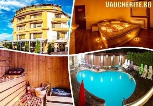 Нощувка + ползване на външен целогодишен басейн с МИНЕРАЛА ВОДА, джакузи, сауна и парна баня от семеен хотел Илиевата къща, Сапарева баня