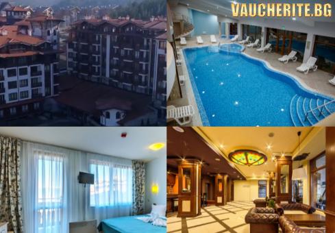 Закуска, закуска и вечеря или закуска, обяд и вечеря + отопляем басейн, СПА и детски кът от хотел Панорама Ризорт, Банско
