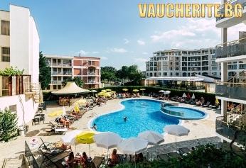 All Inclusive + басейн с чадър и шезлонг и фитнес от хотел Кавказ Голдън Дюн, Слънчев бряг