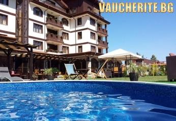 Закуска или закуска и вечеря + външен и вътрешен басейн с минерална вода, сауна и парна баня от Семеен хотел Алегра, Велинград