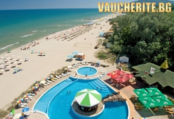 All Inclusive + басейн, чадър и 2 шезлонга на плажа от хотел Елица, Албена