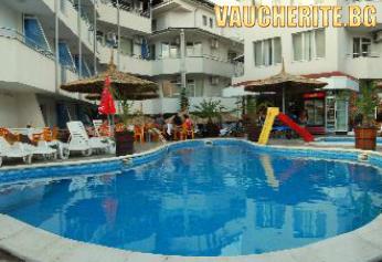 Нощувка + басейн с чадъри и шезлонги, джакузи и интернет от хотел Алпина, Лозенец