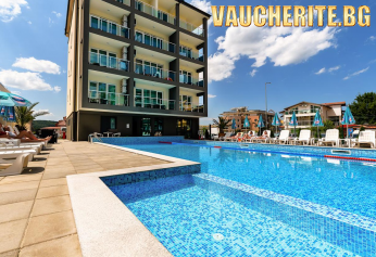 Закуска + външен плувен басейн с чадър и шезлонг, интернет и паркинг от хотел Свети Димитър, Приморско
