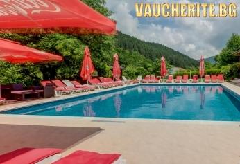 Закуска и вечеря + минерални басейни, сауна и парна баня от хотел Фея, с. Чифлик до Троян
