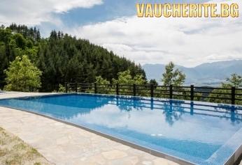 Закуска и вечеря + панорамен външен басейн, вътрешен басейн и СПА център от хотел Лещен, с. Лещен