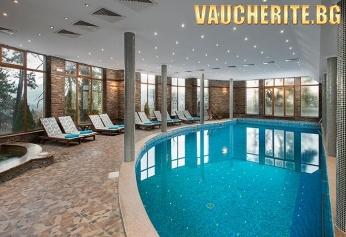 Закуска и вечеря + минерален басейн и СПА център от хотел СПА Клуб Бор, Велинград