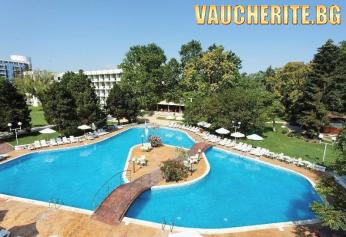 All Inclusive Plus + басейн, чадър и два шезлонга на плажа, паркинг и интернет от хотел Лебед, к.к. Гранд хотел Варна, Св. Константин и Елена