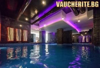 Закуска или закуска и вечеря + вътрешен басейн, сауна, парна баня и релакс зона от хотел Балканско Бижу, Разлог