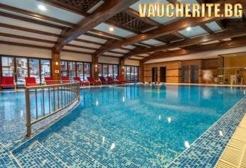 Закуска и вечеря + вътрешен басейн, СПА център и трансфер до начална станция на лифта от хотел Лион, Банско