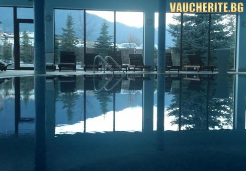 Закуска и вечеря + вътрешен басейн, парна баня, сауна и фитнес от хотел Стражите, Банско