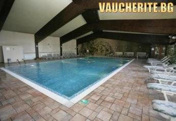 Закуска и вечеря + вътрешен басейн, сауна, парна баня и фитнес от хотел Пирин, Банско