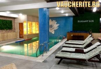 Закуска + закрит басейн, СПА център, фитнес, интернет и паркинг от хотел Елегант Лукс, Банско