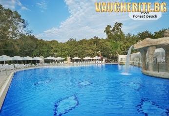 All inclusive + басейн, чадър и 2 шезлонга на плажа и интернет от хотел Форест бийч 4*, Приморско